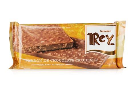 Turrón de Chocolate Crujiente 200g.